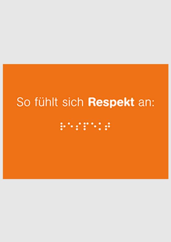 So fühlt sich Respekt an (DIN A6) orange (vergriffen)