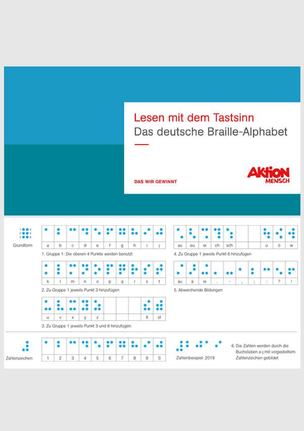 Lesen mit dem Tastsinn. Das deutsche Braille-Alphabet (vorübergehend nicht bestellbar)