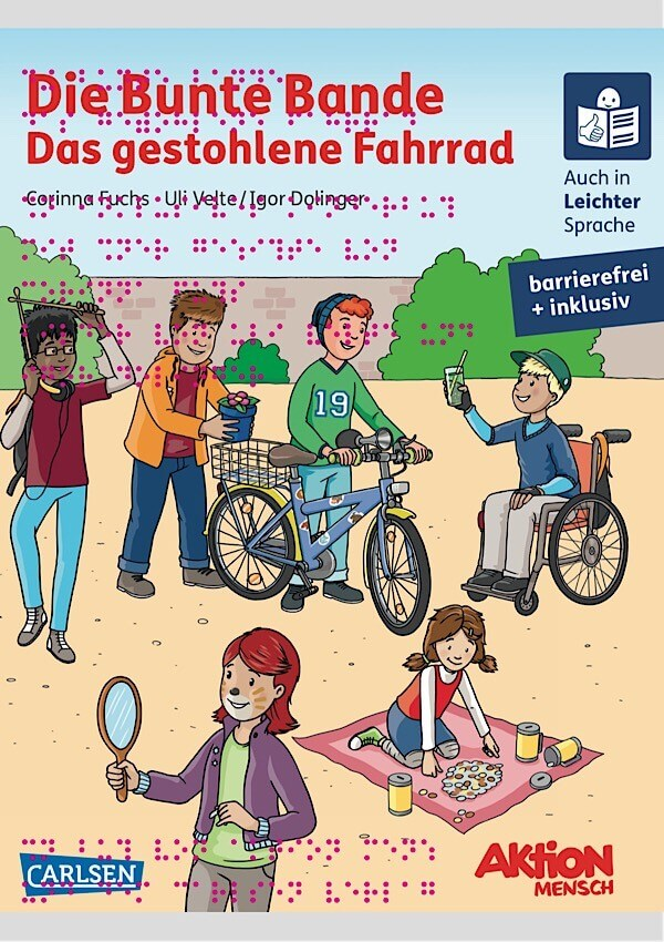 """Barrierefreies Kinderbuch """"Die Bunte Bande - Das gestohlene Fahrrad"""""""