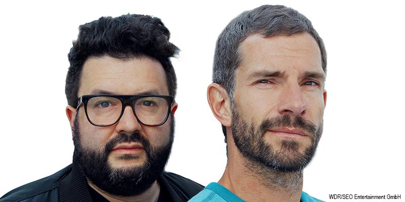 """Porträt der beiden Moderatoren der WDR Sendung """"Das Lachen der anderen"""""""