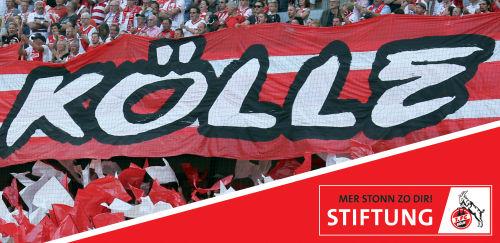 1. FC Köln: Fanflagge mit Kölle